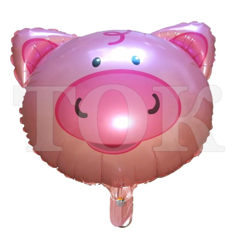 Голова свинки Фигура фольга