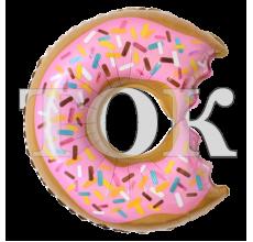 Пончик укушенный фисташковый Фигура Фольга