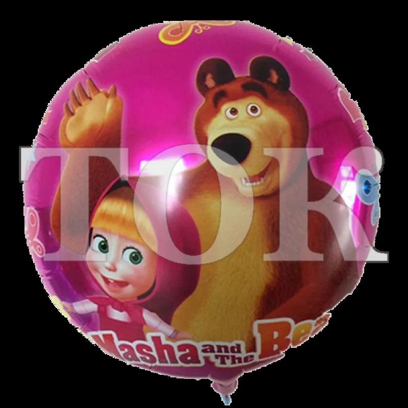 Маша и Медведь Розовый Фон Таблетка Фольга