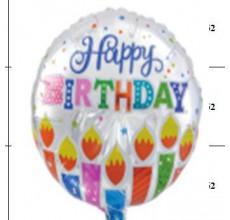 """Happy Birthday""  Таблетка Фольга - 6"