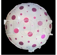 Белый Шарик В Розовый Горошек Таблетка Фольга