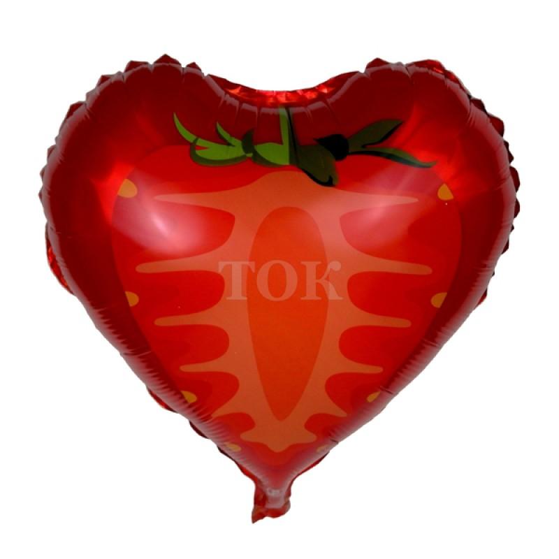 Клубника сердце Фольга