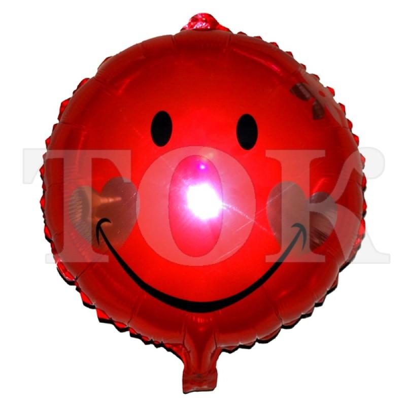 Смайл с сердечками красный Таблетка Фольга