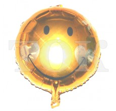 Смайл с сердечками золото Таблетка Фольга
