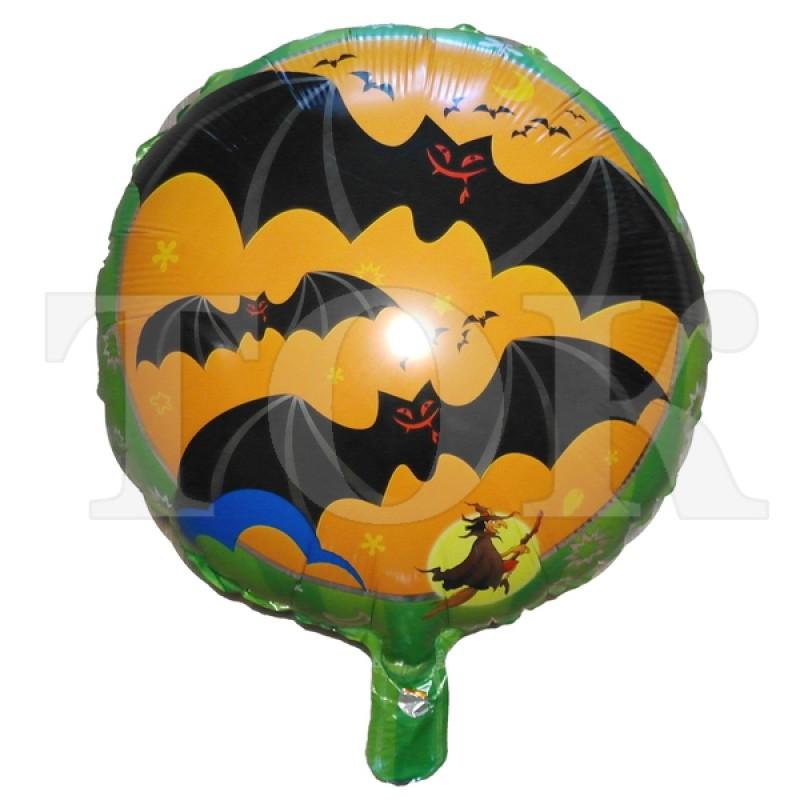Хеллоуин летучие мыши и тыквы  Таблетка Фольга