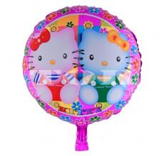 """""""Две Hello Kitty"""" на розовом фоне Таблетка Фольга"""