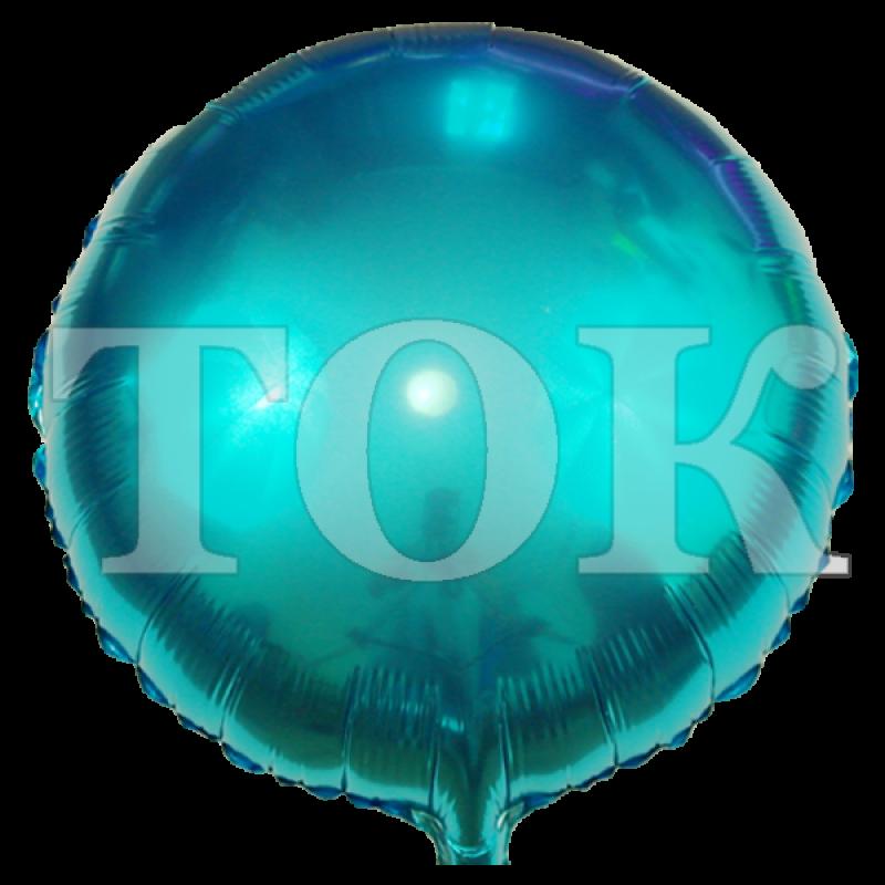 однотонный ярко-голубой Таблетка Фольга