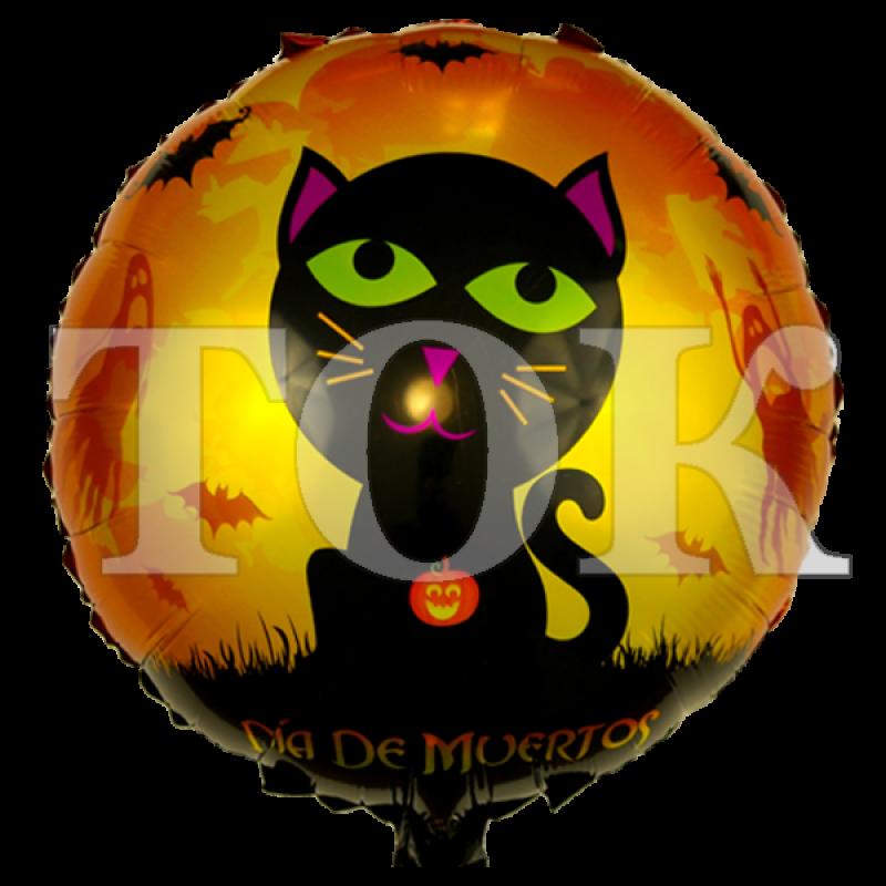 Хеллоуин кошка с летучими мышами Таблетка Фольга
