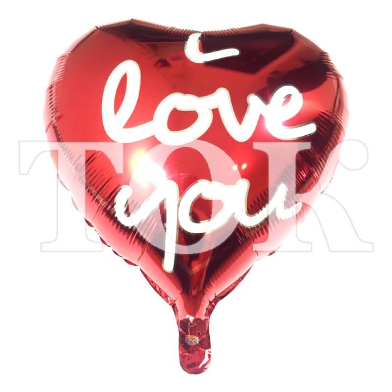 "Сердце ""I Love You"" 2 красное"