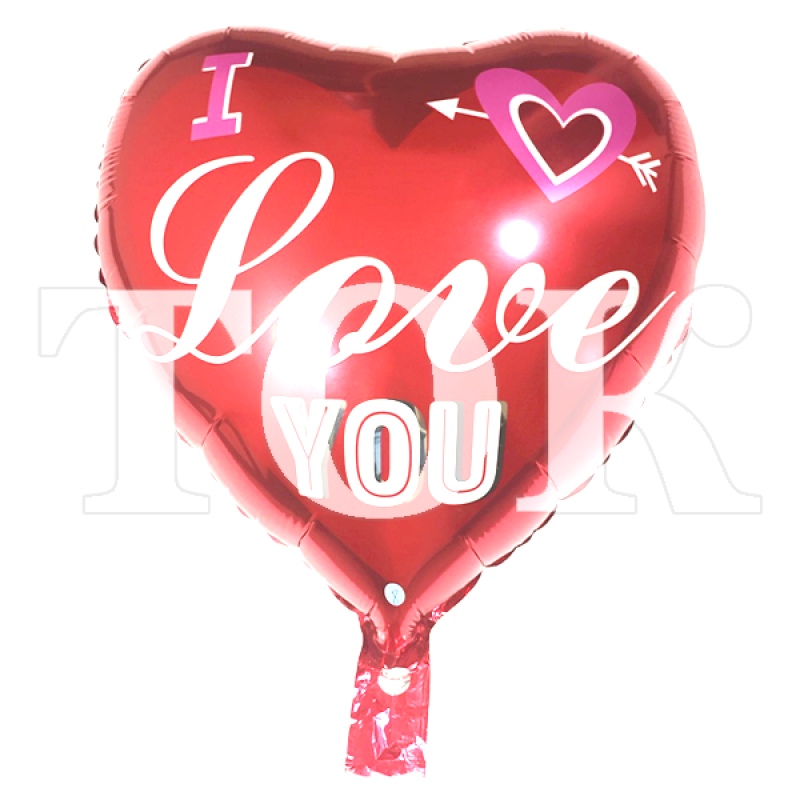 "Сердце ""I Love You"" 3 красное"