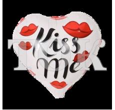 "Шар на палочке ""Сердце Kiss Me"" фольга"