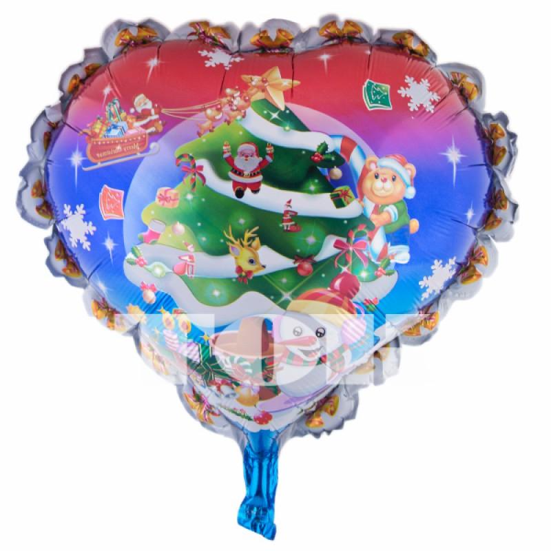 """Сердце """"Елка новогодняя"""" с рюшами"""