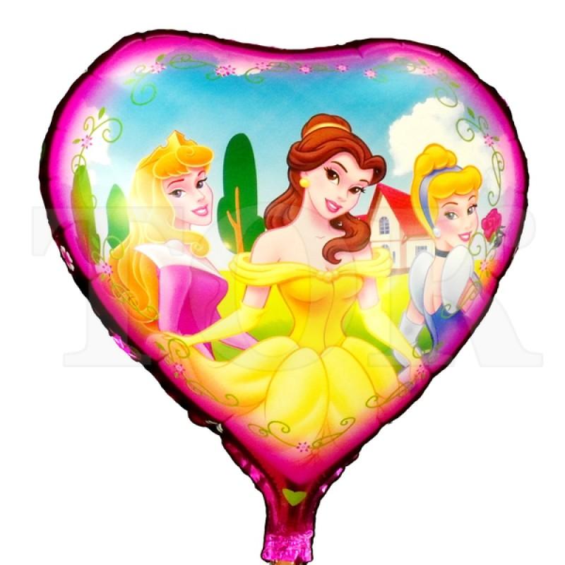 "Сердце ""Три принцессы на розовом фоне"""