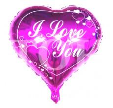 """Сердце """"I Love You"""" розовое 100"""