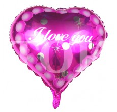 """Сердце """"I Love You"""" розовое 101"""
