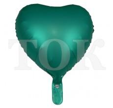 Сердце перламутр 1 изумруд