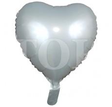 Сердце перламутр 1 светло-серый