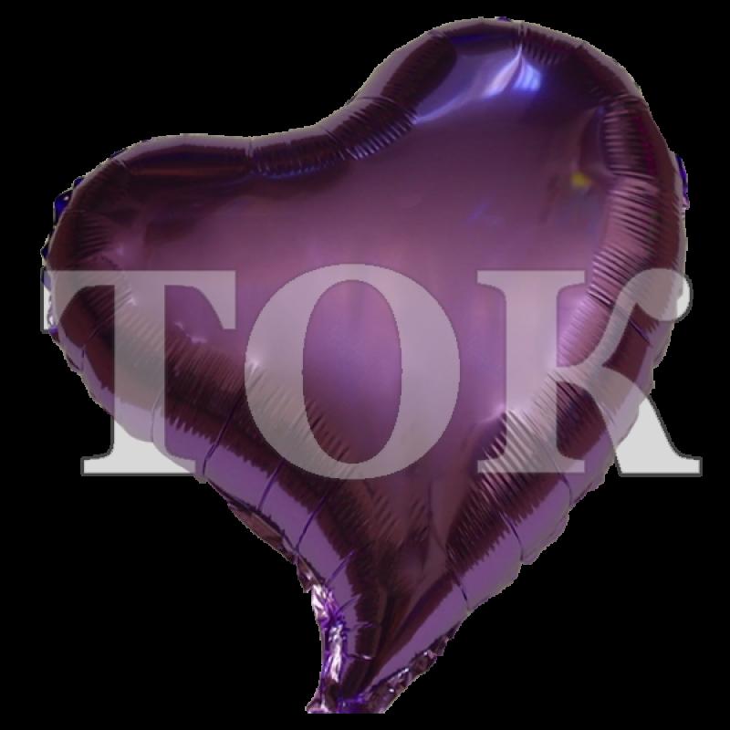 Сердце изогнутое фиолетовое 18 дюймов