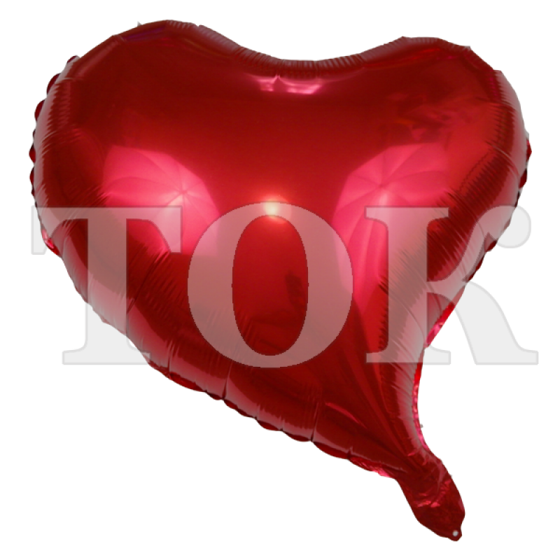 Сердце изогнутое красное 18 дюймов