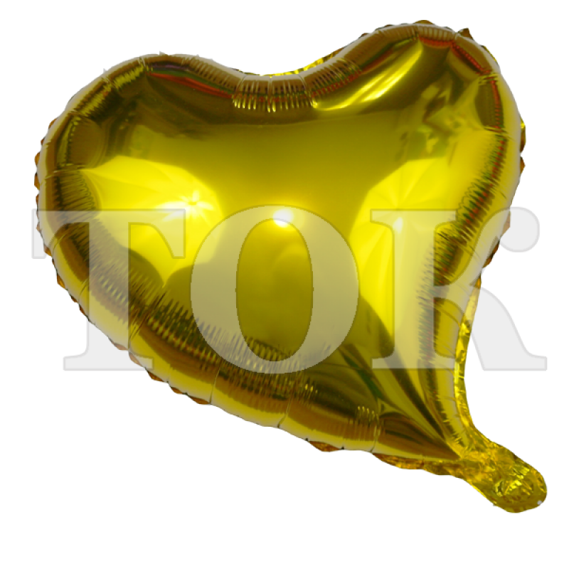 Сердце изогнутое золото 18 дюймов