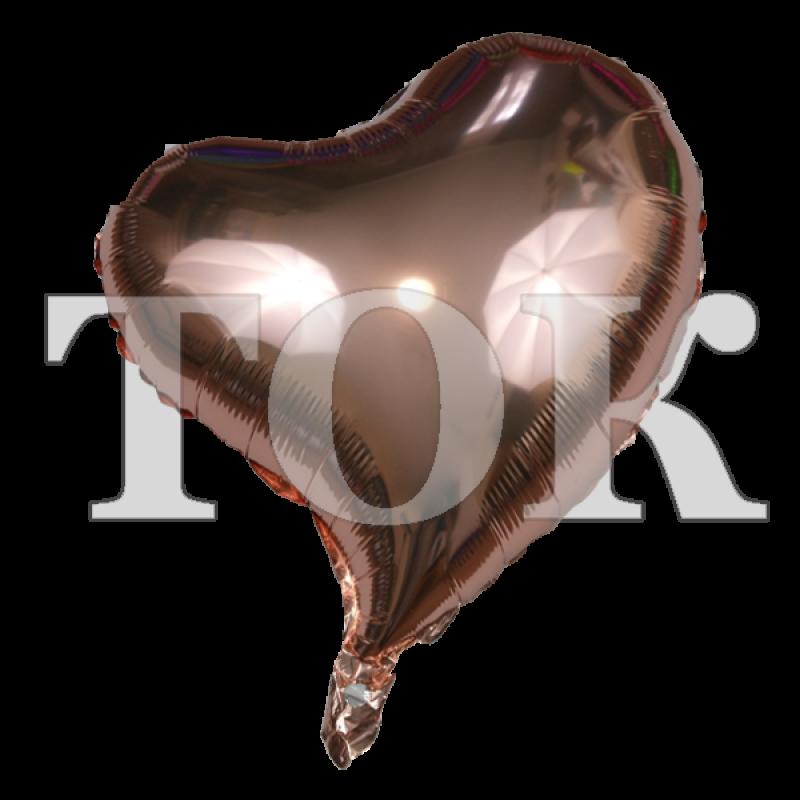 Сердце изогнутое золото розовое 18 дюймов