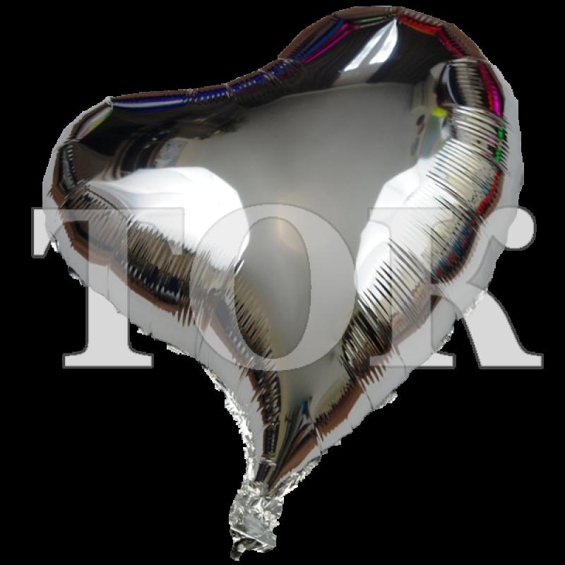 Сердце изогнутое серебро 18 дюймов