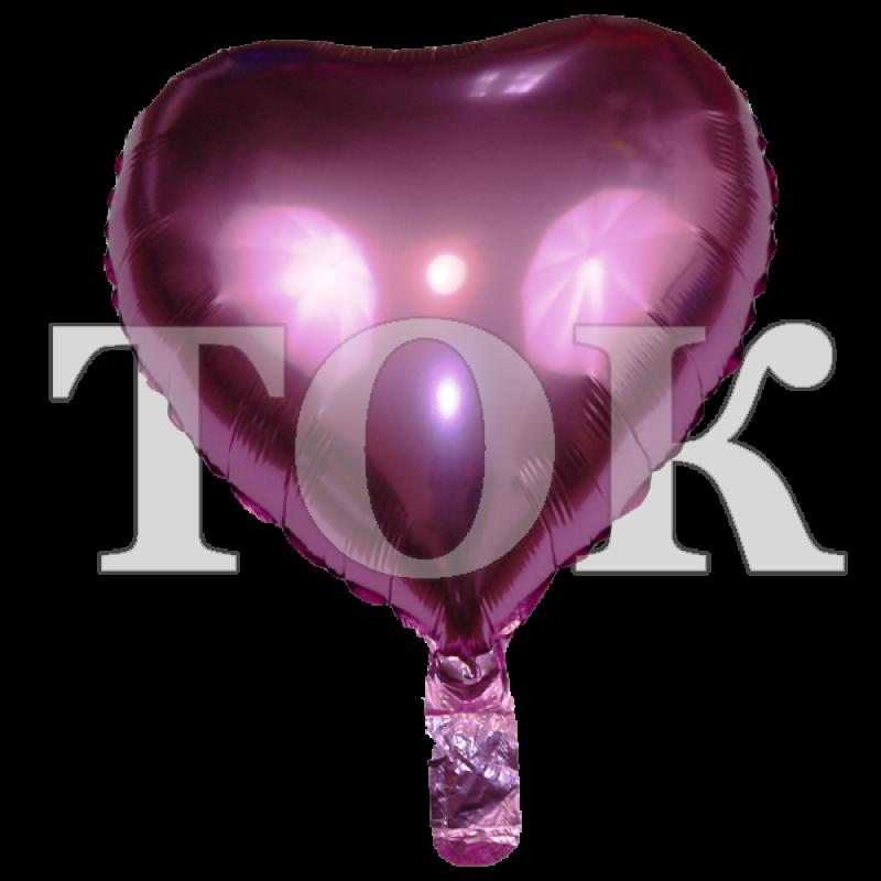 Сердце лиловое 18 дюймов