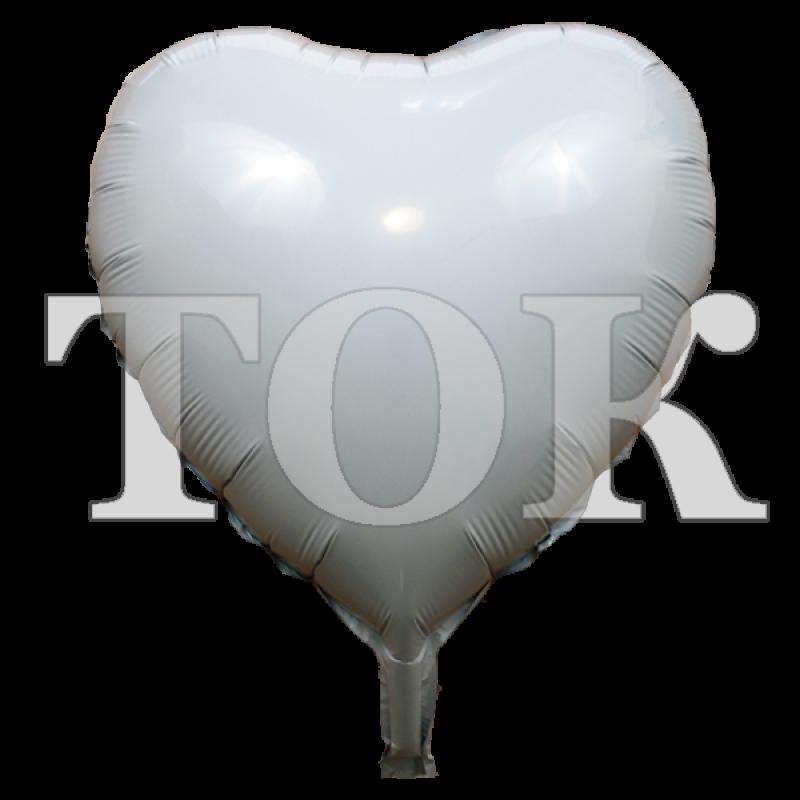 Сердце белое 18 дюймов