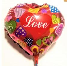 Шар на палочке Сердце 2 фольга