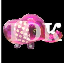 Шар ходячий слон розовый