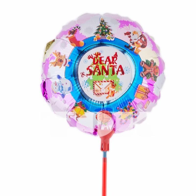 """Шар на палочке """"Письмо Санта-Клаусу"""" фольга"""