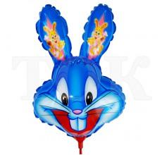 Заяц болбшие уши синий Пленка