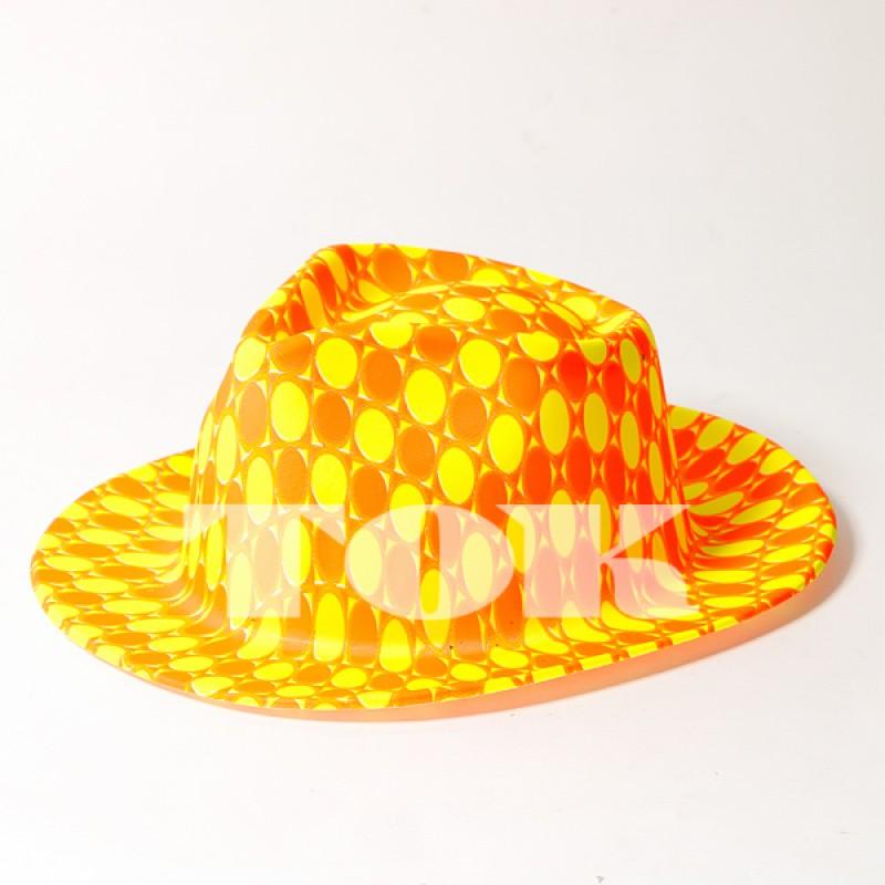"""Шляпа """"Неон"""" с рисунком, MIX"""