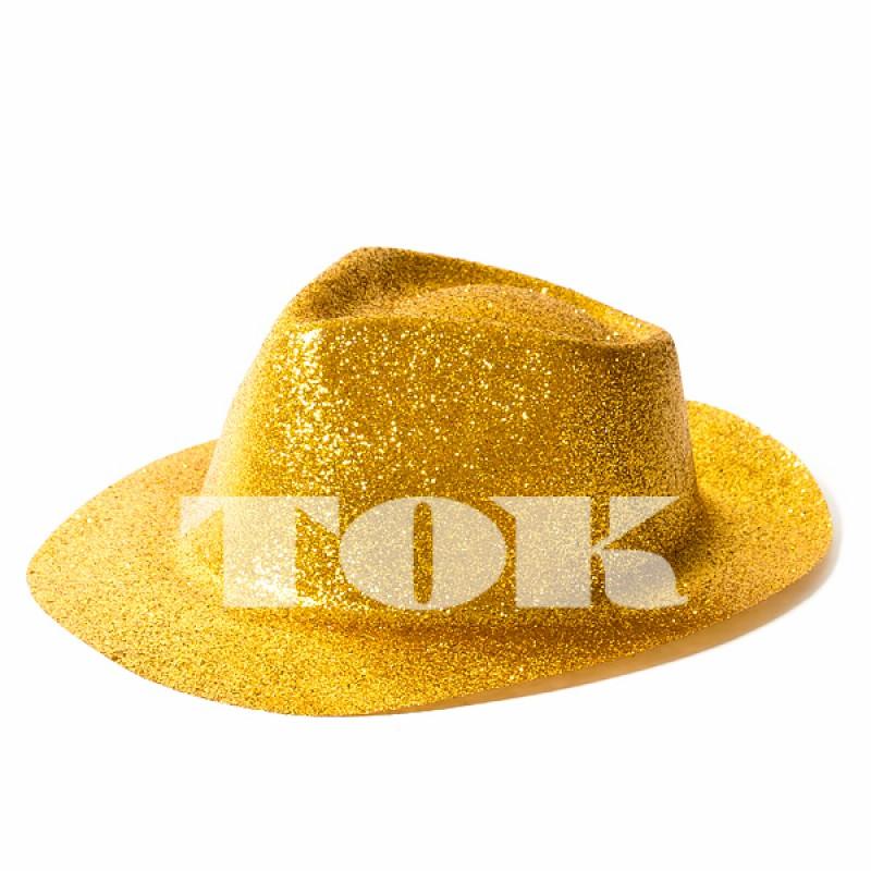 Шляпа с полями блестящая,MIX
