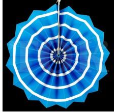 Веер № 0924-67   30 см. голубой