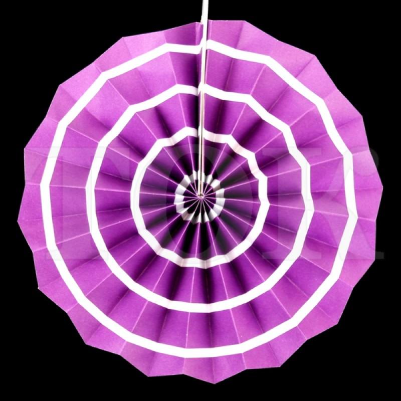 Веер № 0924-65   20 см. фиолетовый