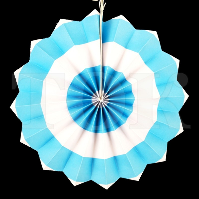 Веер № 0924-71   20 см. голубой
