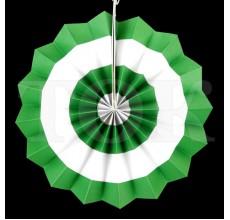 Веер № 0924-71   20 см. зеленый