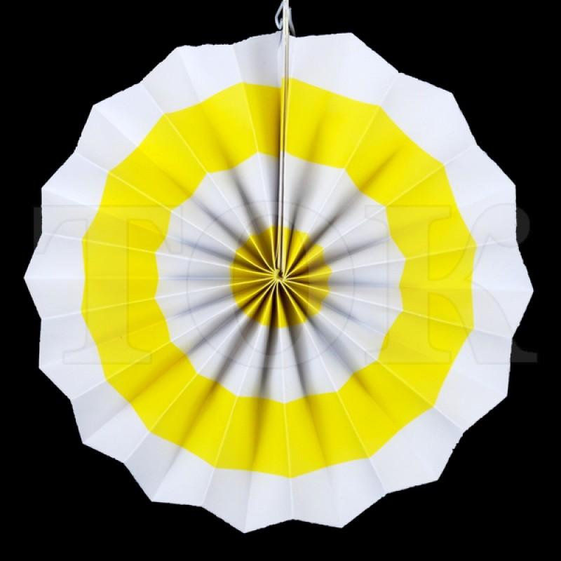 Веер № 0924-71   20 см. желтый