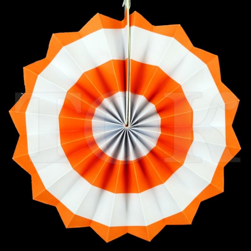 Веер № 0924-71   20 см. оранжевый