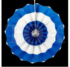 Веер № 0924-71   20 см. синий