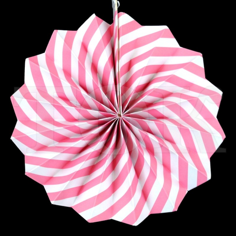 Веер № 0924-77   20 см. светло-розовый