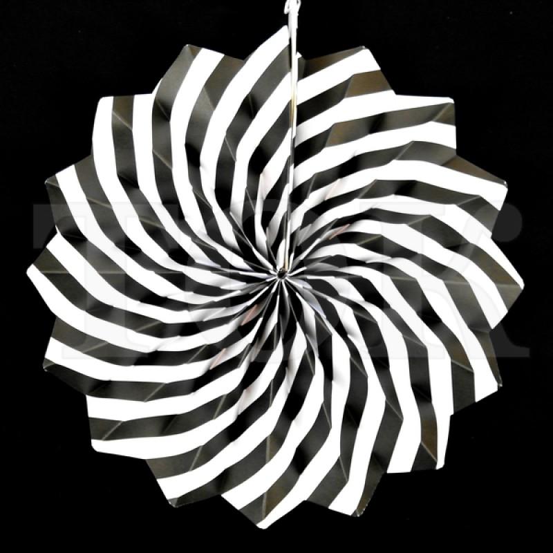 Веер № 0924-77   20 см. черный