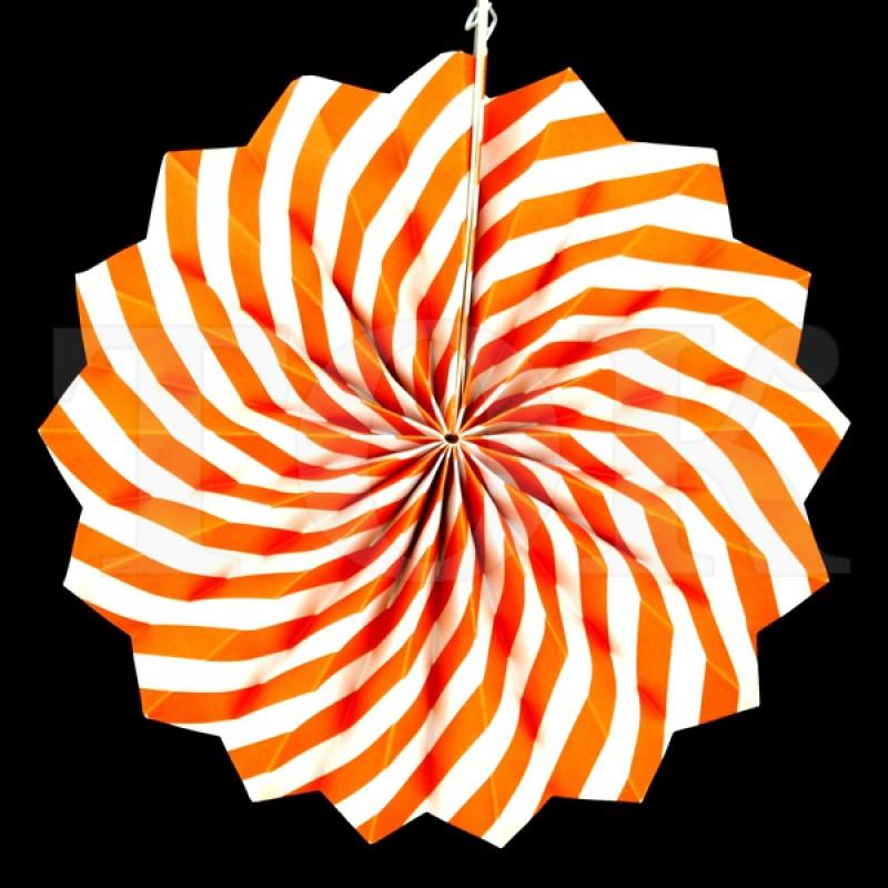 Веер № 0924-77   20 см. оранжевый