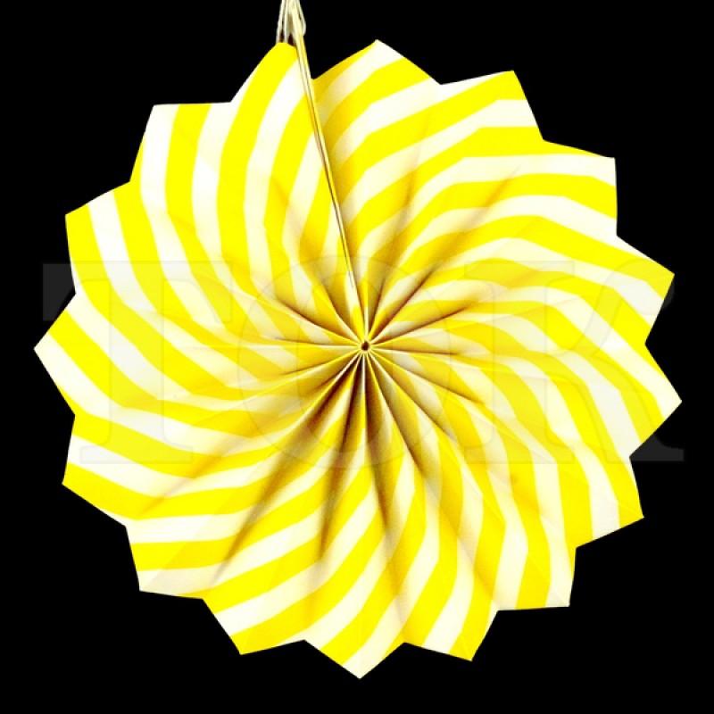 Веер № 0924-77   20 см. желтый