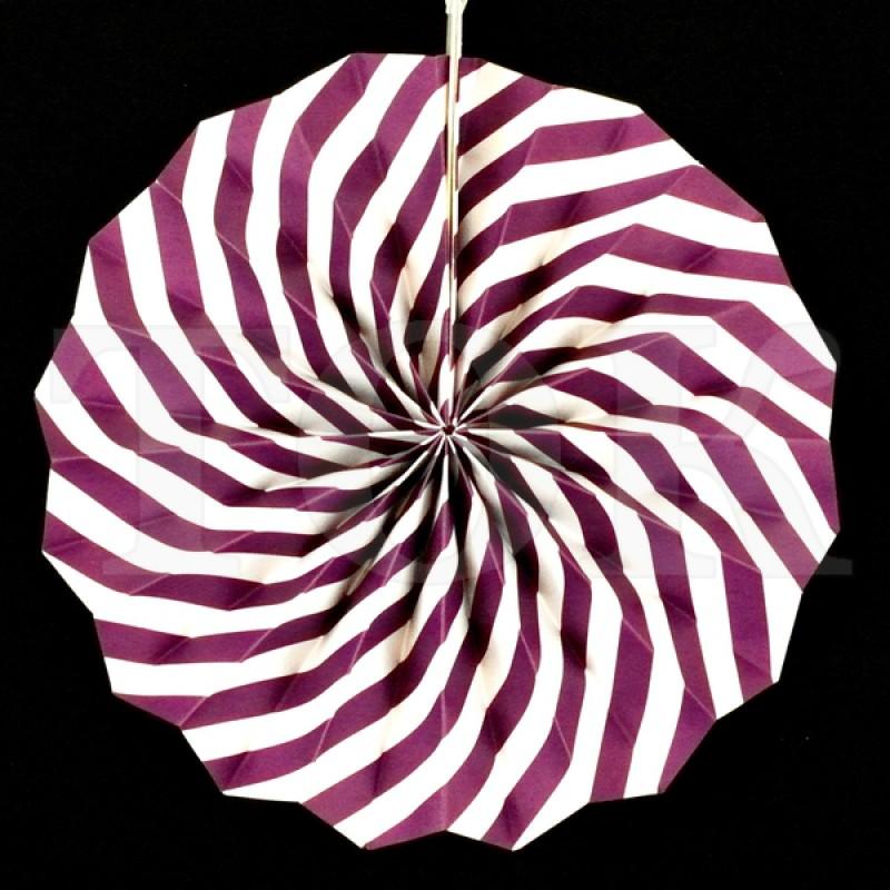 Веер № 0924-77   20 см. фиолетовый