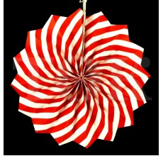 Веер № 0924-77   20 см. красный