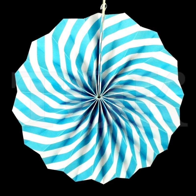 Веер № 0924-77   20 см. голубой