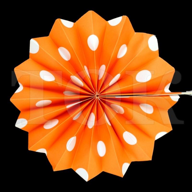 Веер № 0924-83   20 см. оранжевый