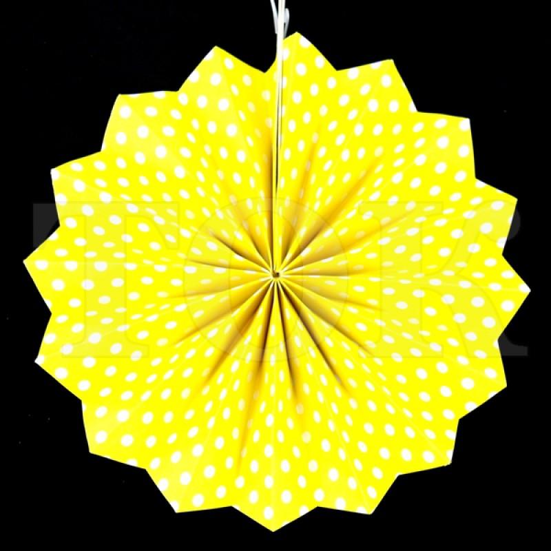 Веер № 0924-89   20 см. желтый